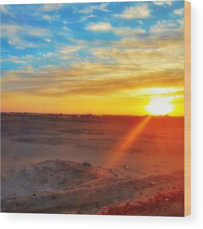 Sunset Wood Print featuring the photograph Sunset In Egypt by Usman Idrees