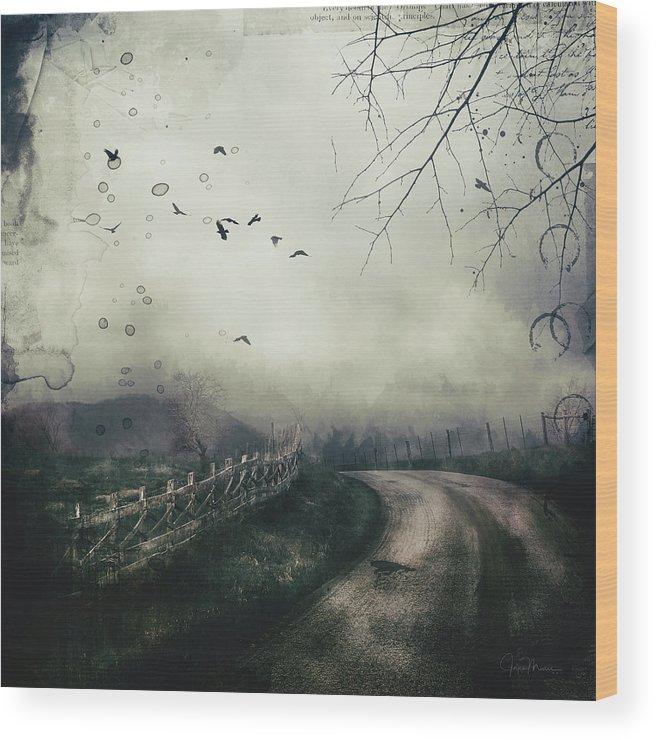 Highlands Wood Print featuring the digital art The Highlands by Joyce Maris