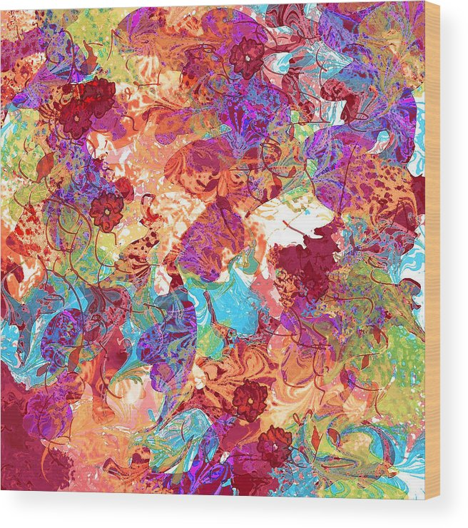 Abstract Wood Print featuring the digital art The Princess Dream by Rachel Christine Nowicki