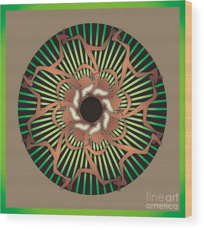 Dance Wood Print featuring the digital art Tribal Dance by Walter Oliver Neal