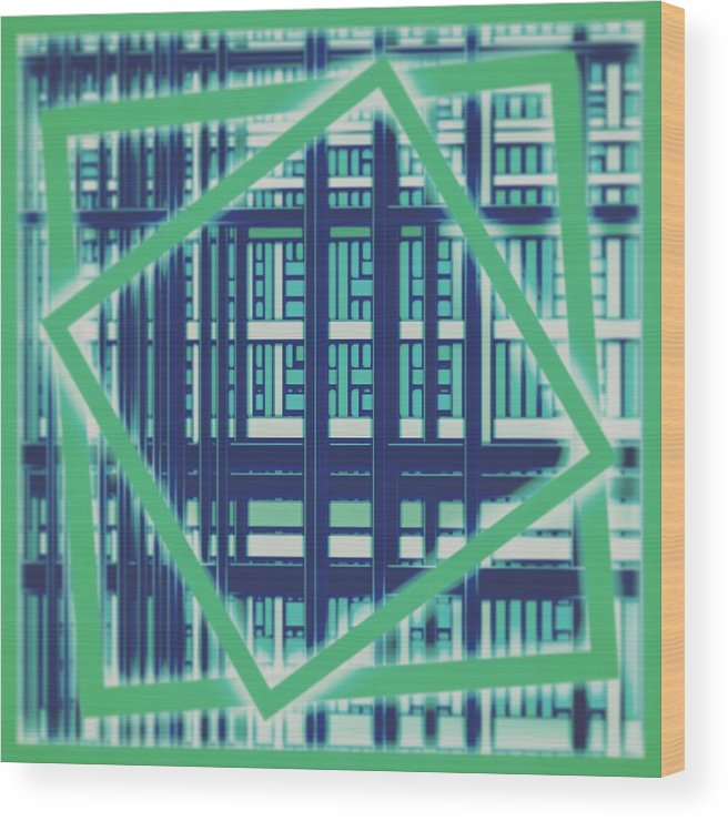 Wallpaper Wood Print featuring the digital art Wallpaper 30 by Marko Sabotin