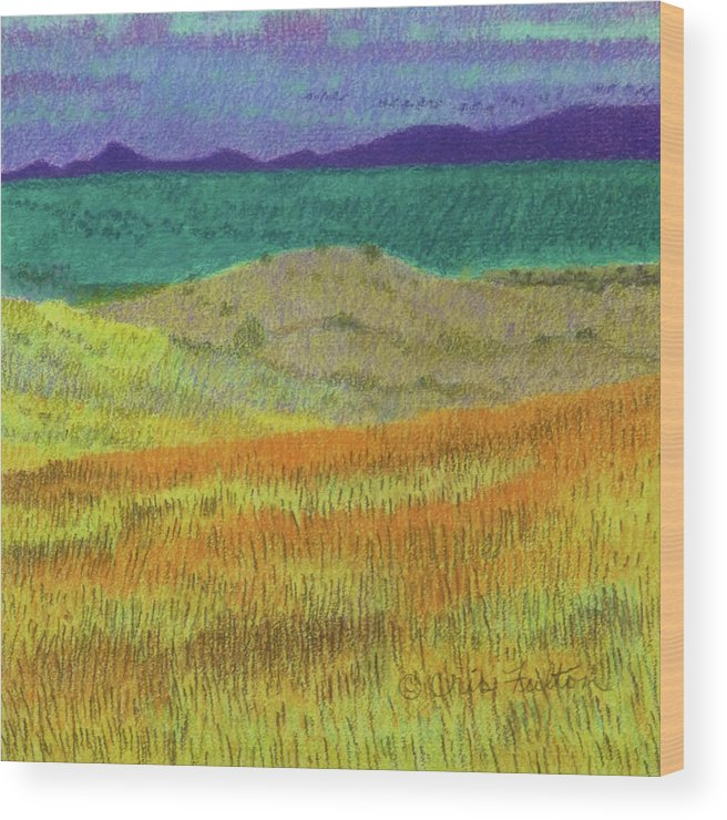 North Dakota Wood Print featuring the painting Western Edge Prairie Dream by Cris Fulton