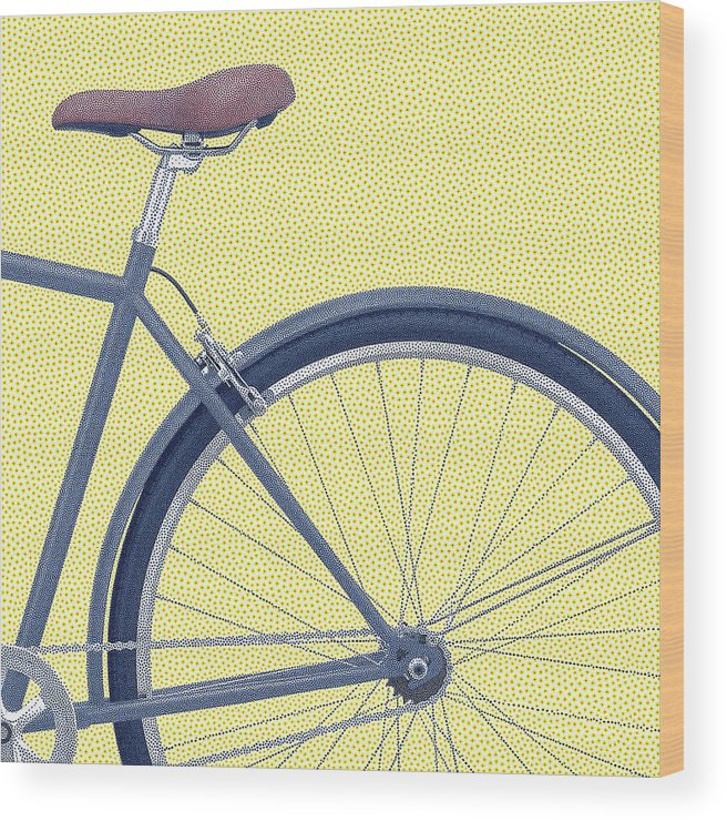 Bicycle Wood Print featuring the digital art Yelow Bike by Dorival Moreira