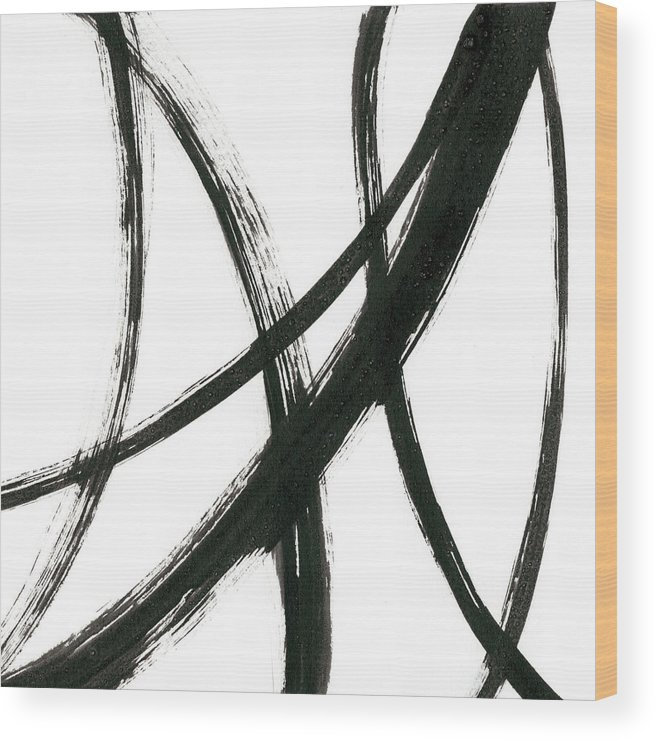 Abstract Wood Print featuring the painting Linear Expression II 1 by J. Holland