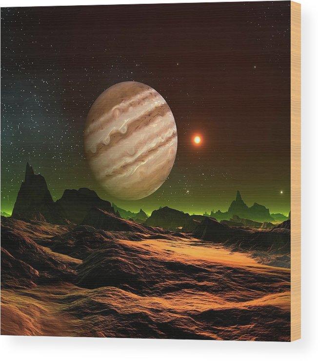 Alien Planet, Artwork Wood Print