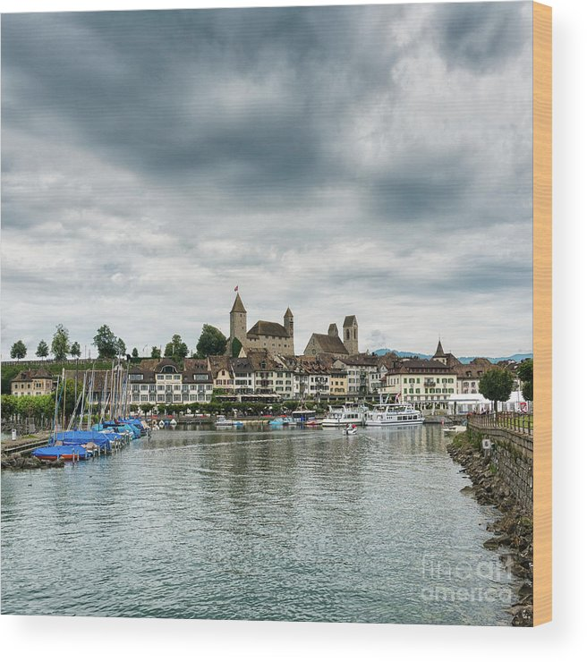 Rapperswil Wood Print featuring the photograph Rapperswil Castle by DiFigiano Photography