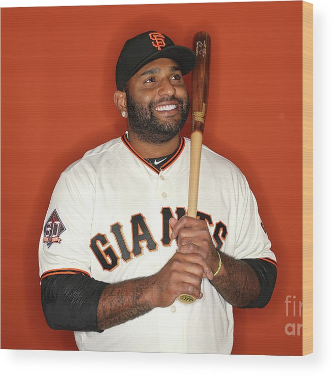 Media Day Wood Print featuring the photograph Pablo Sandoval by Patrick Smith