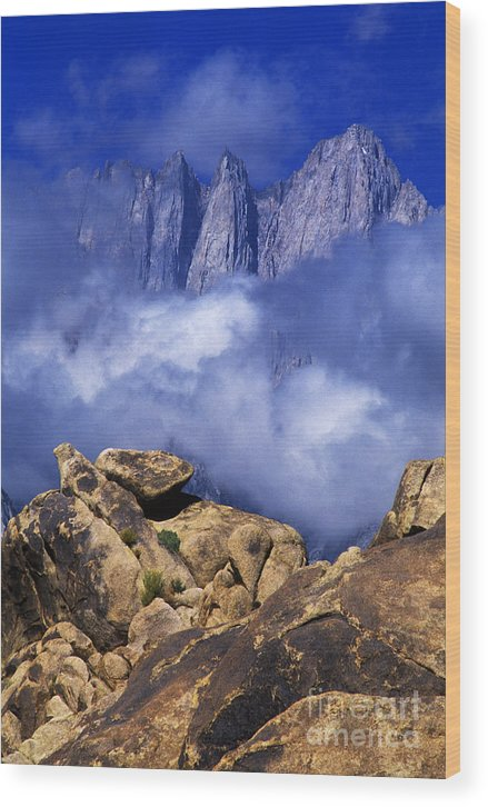 Dave Welling Wood Print featuring the photograph Mount Whitney Alabama Hills California by Dave Welling