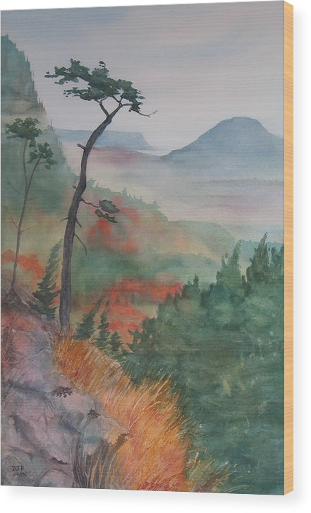 Early Morning Wood Print featuring the painting Algoma Morning by Debbie Homewood