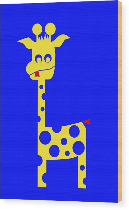 Tall Charlie Wood Print featuring the digital art Tall Charlie by Asbjorn Lonvig