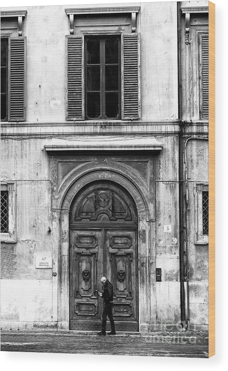 Rome Wood Print featuring the photograph Rome Italy Mood by John Rizzuto
