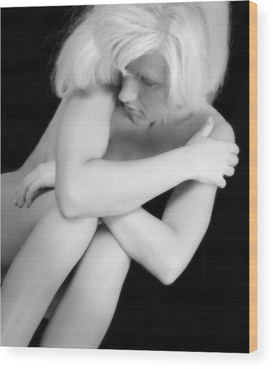 Nude Wood Print featuring the photograph Jennifer by Steve Parrott