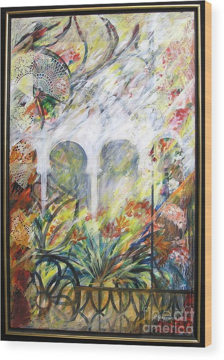 Flowers Wood Print featuring the mixed media Toledo by Pnina Granirer