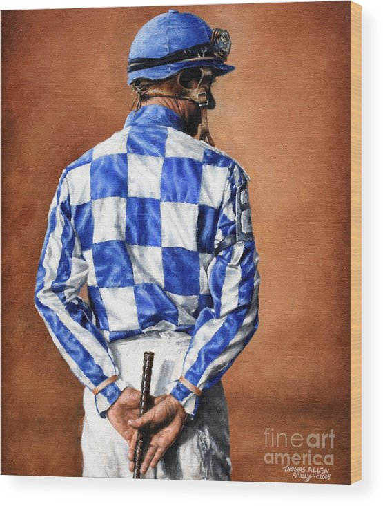 Secretariat Wood Print featuring the painting Waiting for Secretariat by Thomas Allen Pauly