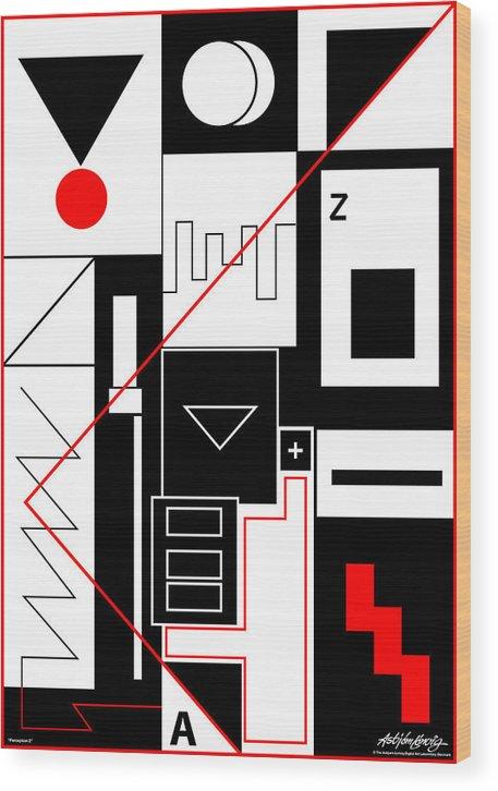 Asbjorn Lonvig Wood Print featuring the digital art Perception II by Asbjorn Lonvig