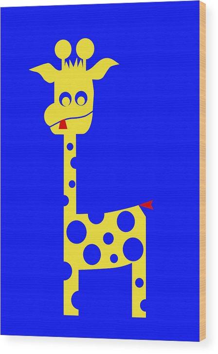 Tall Charlie Wood Print featuring the digital art Tall Charlie by Asbjorn Lonvig