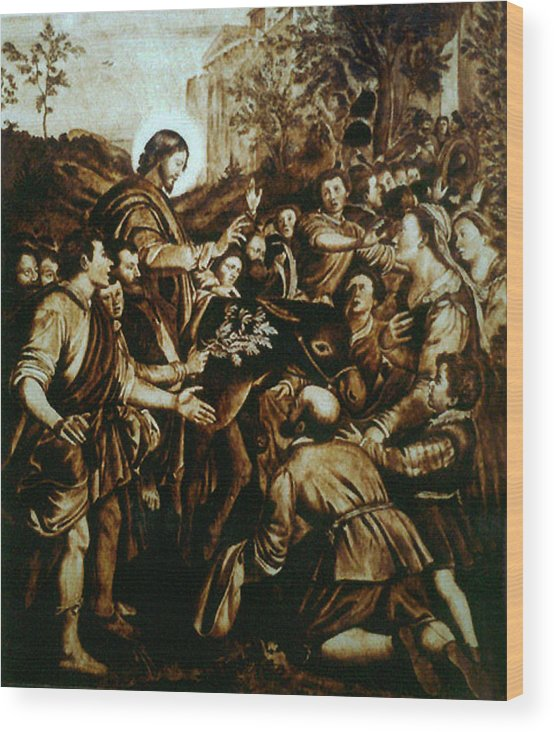 Dino Muradian Wood Print featuring the pyrography Entering Into Jerusalem by Dino Muradian
