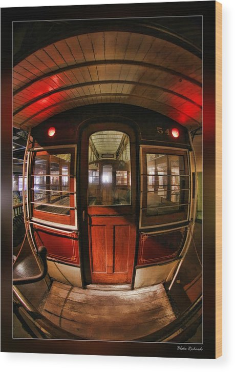 Art Photography Wood Print featuring the photograph Cable Car Door by Blake Richards