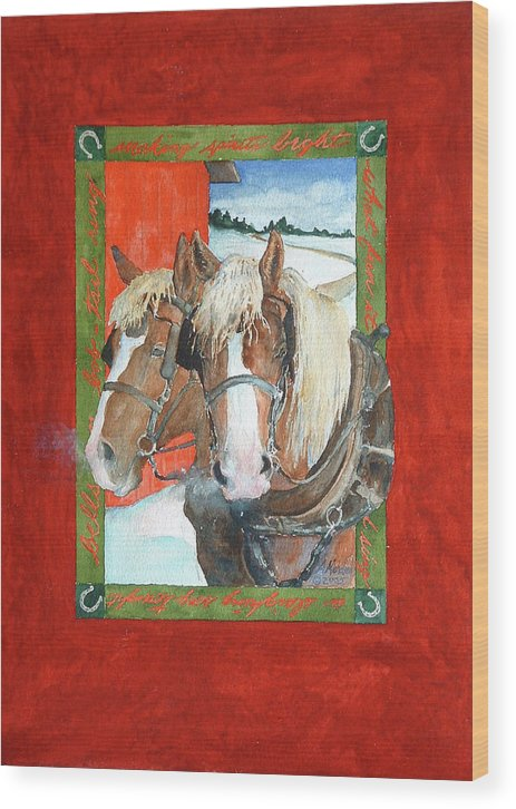 Horses Wood Print featuring the painting Bright Spirits by Christie Martin