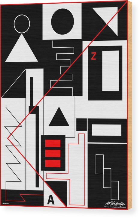 Asbjorn Lonvig Wood Print featuring the digital art Perception I by Asbjorn Lonvig