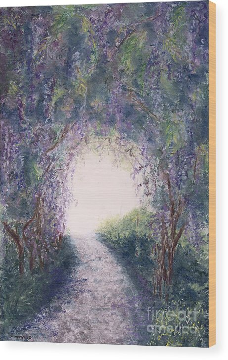 Prince Wood Print featuring the painting Purple Rain by Stanza Widen