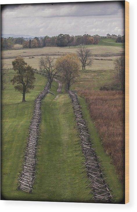 Antietam Wood Print featuring the photograph 101514-245 by Mike Davis