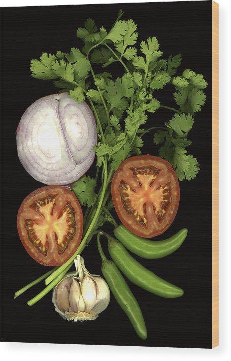 Fruit Wood Print featuring the photograph Salsa by Marsha Tudor