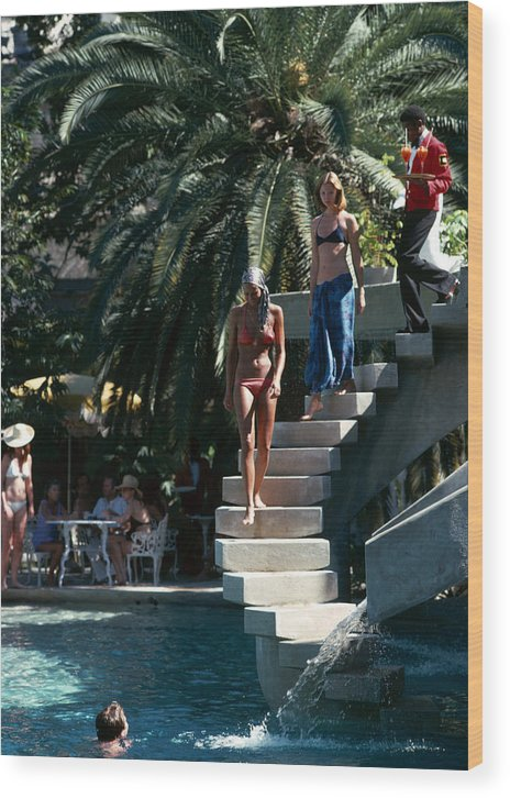 People Wood Print featuring the photograph Habitation Leclerc by Slim Aarons