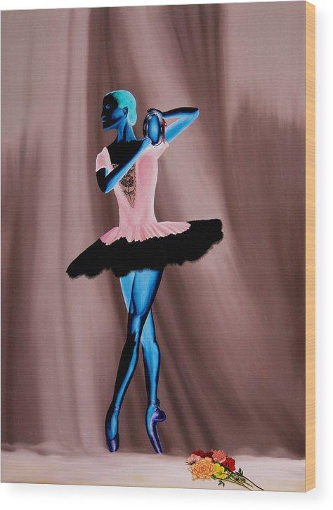 Ballerina Wood Print featuring the painting Prima Ballerina by Ivan Rijhoff