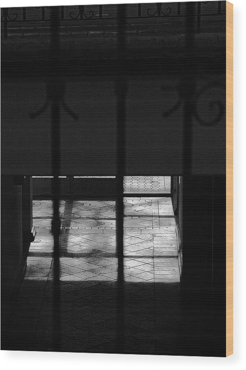 Tiles Floor Collecting Windows Lights Wood Print featuring the photograph Tiles Floor Collecting Windows Lights by Viktor Savchenko