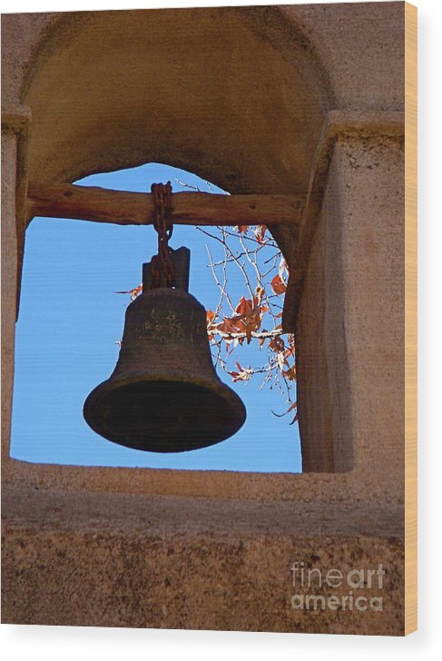 Sedona Wood Print featuring the photograph Bell by Amy Strong