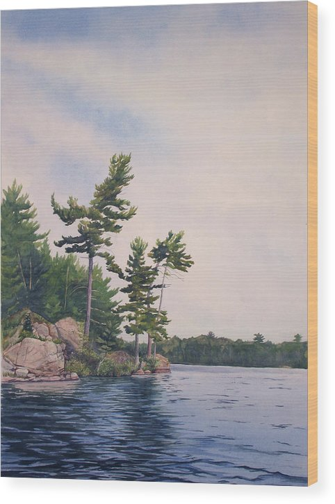 Canadian Shield Wood Print featuring the painting Canadian Shield Sculpture No. 2 by Debbie Homewood