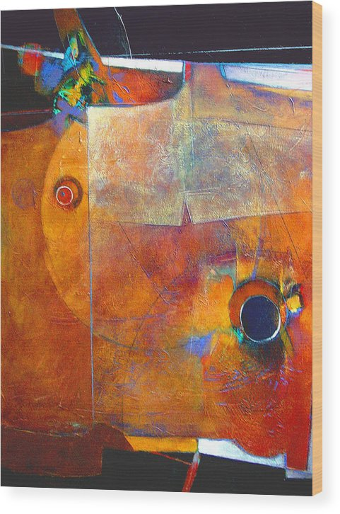 Print Wood Print featuring the painting Coffee Cup Eclipse by Dale Witherow