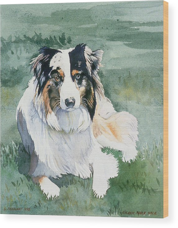 Portrait Wood Print featuring the painting Cisco by Eileen Hale