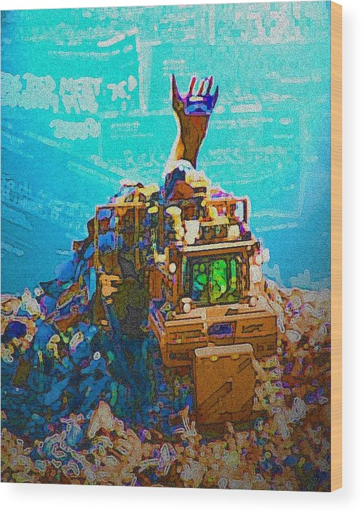 Credit Wood Print featuring the photograph Mountain of Debt by Jennifer Ott