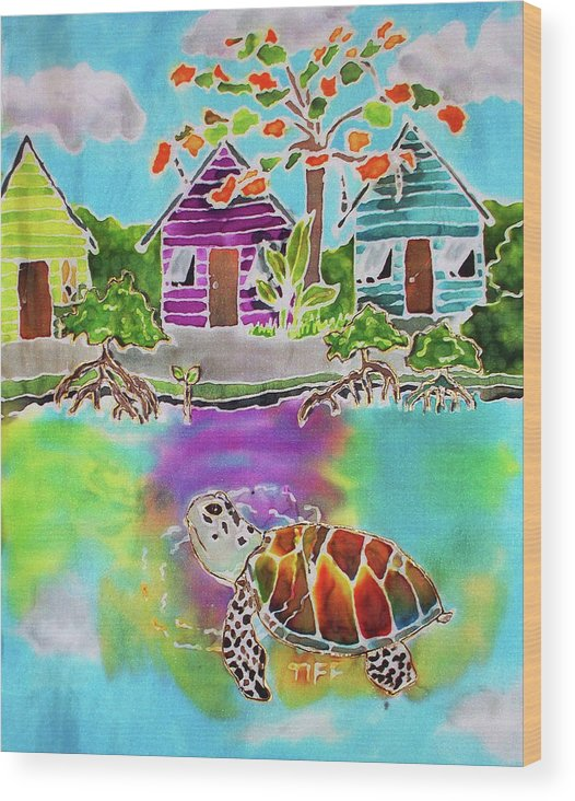 Bahamas Art Wood Print featuring the painting Peepin Tom by Tiff
