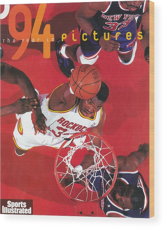 Playoffs Wood Print featuring the photograph Houston Rockets Hakeem Olajuwon, 1994 Nba Finals Sports Illustrated Cover by Sports Illustrated