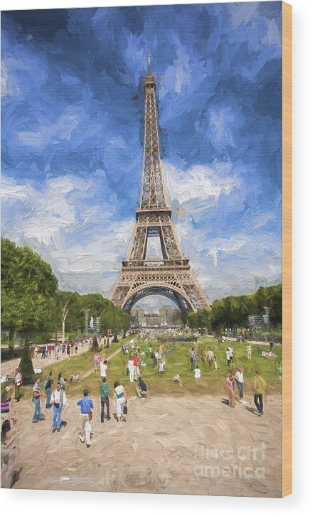Eiffel Tower Wood Print featuring the photograph Paris by Sheila Smart Fine Art Photography