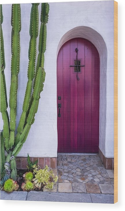 Door Wood Print featuring the photograph Magenta Door by Thomas Hall