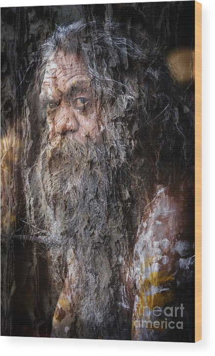 Textures Wood Print featuring the photograph Aboriginal with textures by Sheila Smart Fine Art Photography