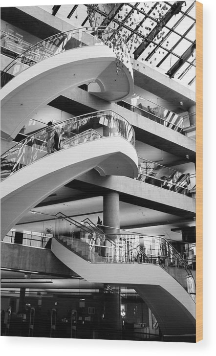 Architecture Wood Print featuring the photograph Floating Stair by Caroline Clark