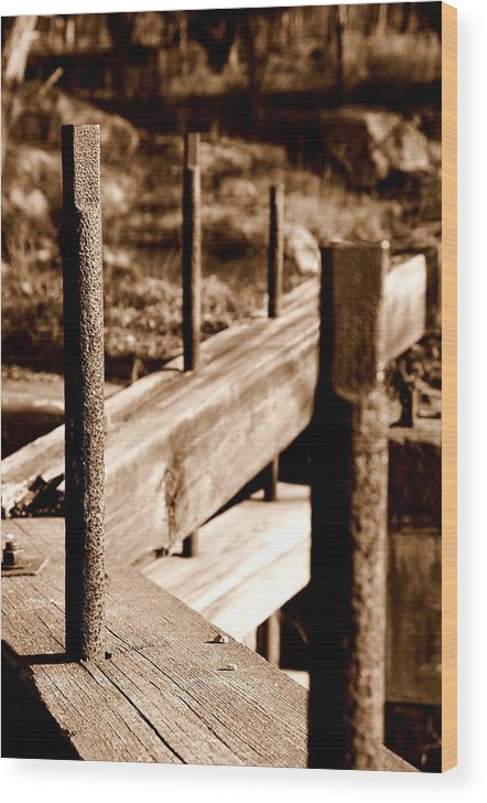Wood Wood Print featuring the photograph Rust and Wood by Caroline Clark