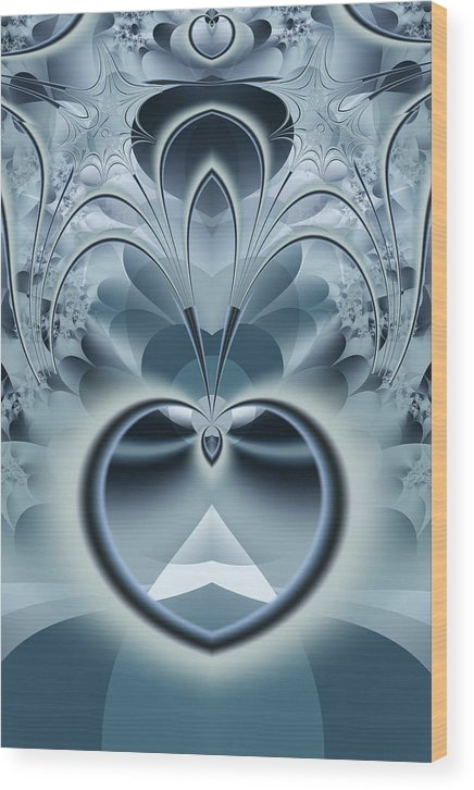 Fractal Wood Print featuring the digital art Vision by Frederic Durville