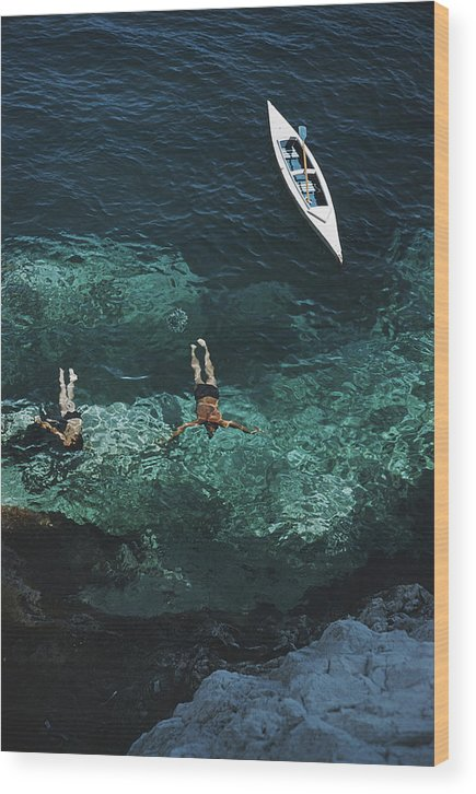 People Wood Print featuring the photograph Capri Holiday by Slim Aarons