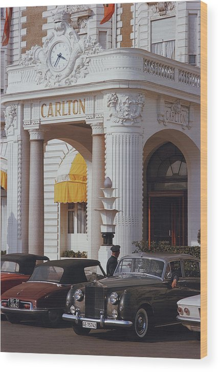 Hotel Wood Print featuring the photograph Carlton Hotel by Slim Aarons