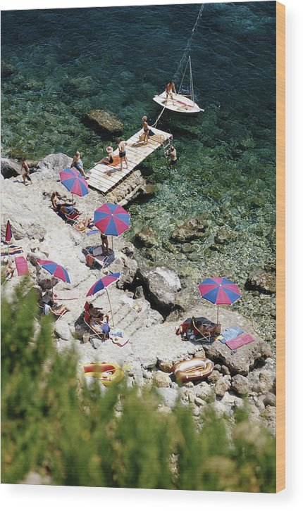 People Wood Print featuring the photograph Porto Ercole by Slim Aarons