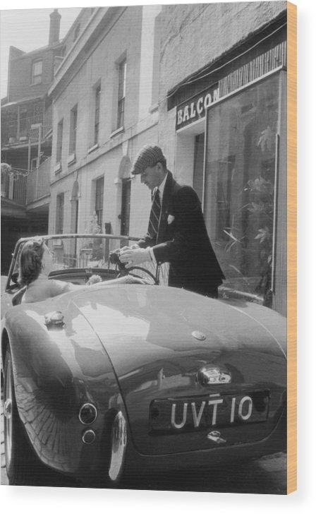 People Wood Print featuring the photograph Ac Sports Car by Slim Aarons