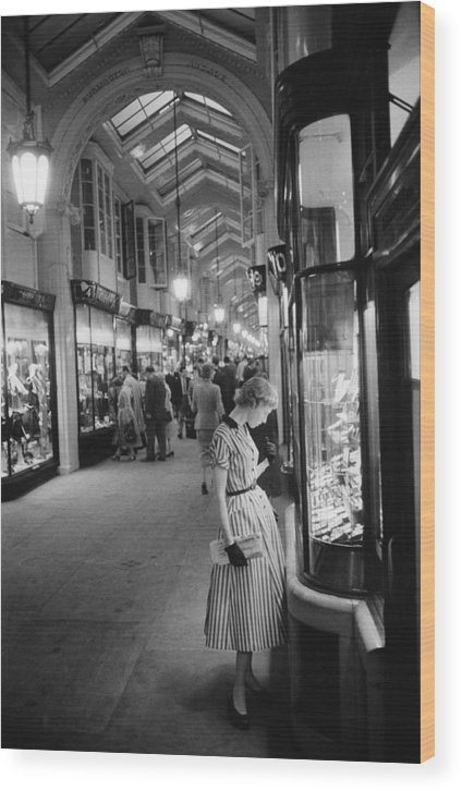 People Wood Print featuring the photograph Burlington Arcade by Slim Aarons