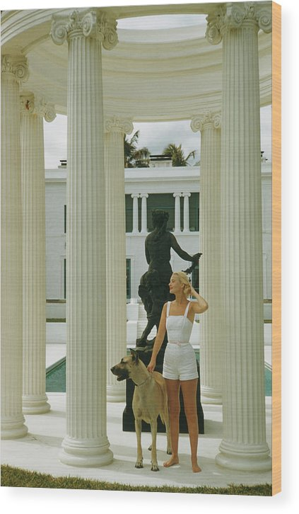 Pets Wood Print featuring the photograph C. Z. Guest by Slim Aarons