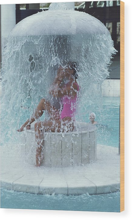 Baden-baden Wood Print featuring the photograph Caracalla Therme by Slim Aarons